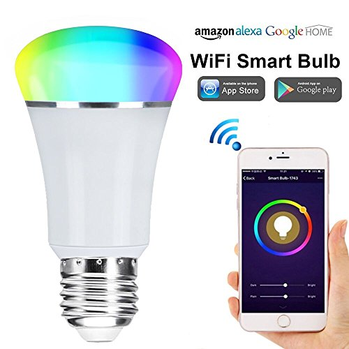 Smart WiFi Bulb,Weton Smart LED Bulb Multicolored Light Bulbs Work with Amazon Alexa Google Home, No Hub Required,Remote Control via Free App for Android & all Smartphones,Dimmable Light Sunrise Light by Weton (Image #8)