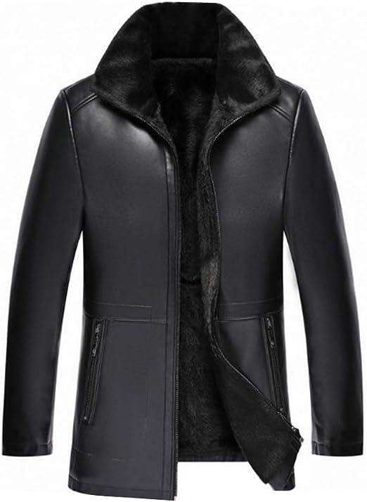 Angelo レザージャケット メンズ 厚手 ボア付き レザーコート ボアジャケット 防寒 暖かい 革ジャケット はおり ライダースジャケット バイクジャケット メンズファッション 男子 冬コート トップス おしゃれ
