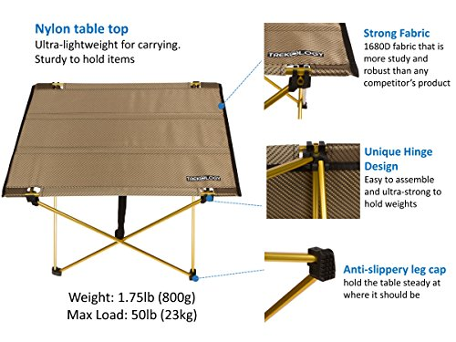 Trekology Foldable Camping Picnic Table Portable Compact Lightweight