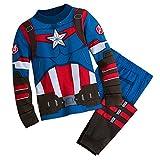 Marvel Captain America Costume PJ PALS for Boys Size 6 Multi