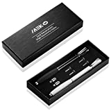 MEKO-2nd-Generation-2-in-1-Precision-Series-Disc-StylusStyli-with-Fiber-Tip-For-All-Touch-Screen-Devices-Bundle-with-6-Replacement-Tips-Pack-of-2-BlackWhite