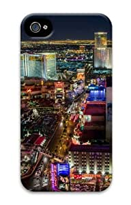 iPhone 4S Cases & Covers - Las Vegas Strip North 3D Design Custom PC Hard Case Cover Compatible with iPhone 4S and iPhone 4