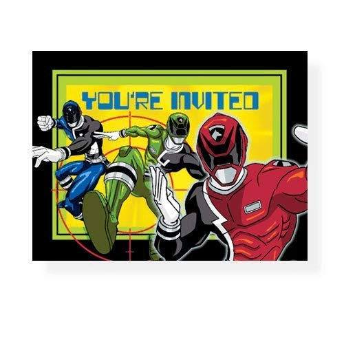 Power Rangers Space Patrol Invitations - 8 Count -