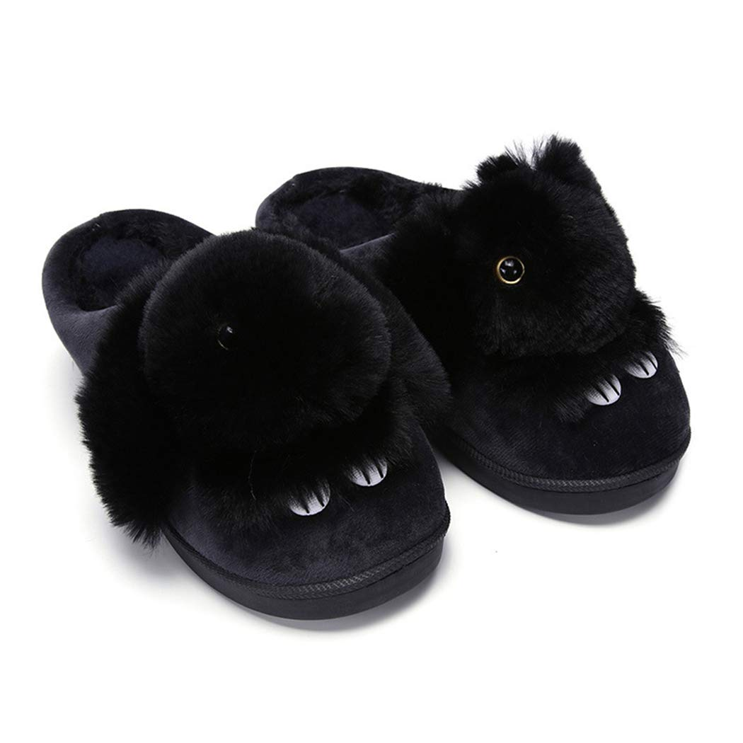 0ec436d36c5 Amazon.com  Nafanio Women Winter Slippers Cute Rabbit Animal Flat Prints Solid  Winter Plush Shoes  Sports   Outdoors
