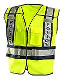OccuNomix LUX-PSP-YM/L Public Safety Police Vest, Medium/Large, Yellow/Navy
