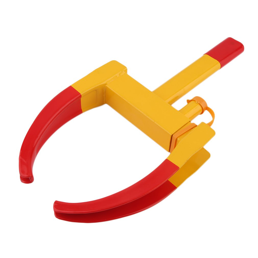 GOGOUP Tire Clamp Heavy Duty Anti Theft Wheel Lock Theft Towing Auto Wheel Lock Clamp Boot Tire Claw Auto Car Truck Rv Boat Trailer Anti-Theft Towing