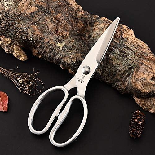 CYFC ステンレス鋼はさみ、多目的キッチンはさみ、強力な家庭用はさみ、キッチンツール、シルバー (色 : 銀)
