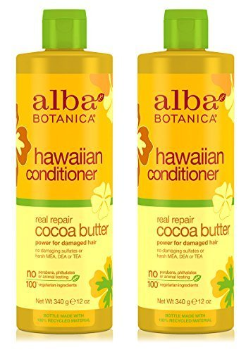 (Hawaiian Conditioner Real Repair Cocoa Butter (Pack of 2) With Soybean, Sunflower, Jojoba, Cocoa, Aloe Vera, Papaya, Matricaria, Ginger, Sweet Almond and Wheat Protein, 12 oz. each)