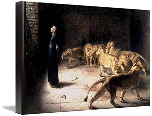 Wall Art Print Entitled Briton Riviere - Daniel's Answer to The King by Celestial Images | 10 x 6