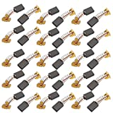 uxcell 15 Pairs Electric Drill Motor Tool Carbon Brush 5 x 11 x 15mm Brass Tone w Spring