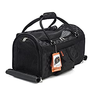 Pet Travel Carrier with Privacy Covers - Soft-Sided, Airline Approved, Perfect for Small Dogs and Cats