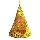 Cat Hammock Play Sleeping Linen Tent Soft House Foldable Detachable Toy Hanging Pet Supplies Washable Conical Durable(MYellow)