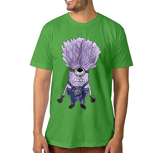 PTCYM Cute Big Eye Wave Hair Design Men's Tshirt XXL KellyGreen (Cute Halloween Wallpaper Iphone)