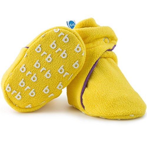 (Fleece Baby Booties - Organic Cotton & Gripper Bottoms, Cozy Boys & Girls Bootie (US 1, Mardi)