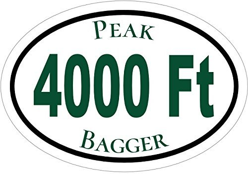 ION Graphics Magnet Peak Bagger - Peak Bagger 4000 Ft Mountains Vinyl Magnet - Hiking Vinyl Magnet - Peak Bagger - Perfect Hiker or Explorer Gift - Made in The USA Size: 4.7 x 3.3 inch ()
