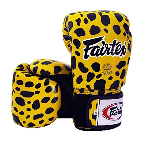 (Fairtex Boxing Gloves BGV1 Limited Edition - Wild Amimal Collection (Leopard, 16)