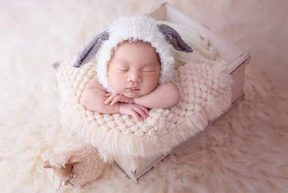Ssowun Neugeborene Fotografie Kost/üm,Stricken Baby Photography Props Newborn Baby Fotografie Requisiten Fotoshooting f/ür M/ädchen Junge EINWEG Verpackung
