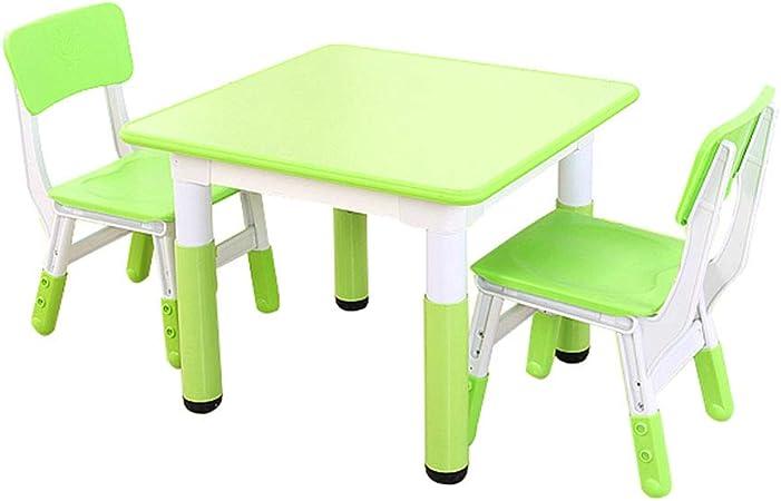 ZH Tavolo per attività per Bambini E 2 Set di Sedie