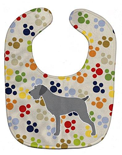 Caroline's Treasures Pawprints Baby Bib, German Wirehaired Pointer, Large