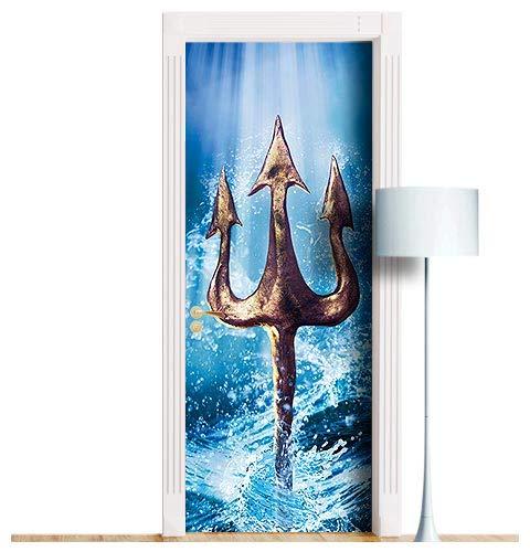 ブランド品専門の Trident of Poseidon, Neptune Inch ドア壁画 - B07MXT7MKT Neptune 剥がして貼るだけの取り外し可能なデコール スキン ラップ デカール カバー ポスター 全サイズ! 36x80 Inch ブルー DS 36x80 Inch Gloss sticker B07MXT7MKT, 卸直営宝寿堂():ff4529fa --- a0267596.xsph.ru