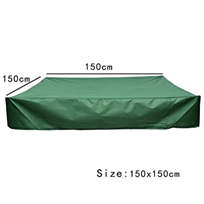 Leiyini Green Sandbox Covers Green Bunker Cover Sandpit Cover Pool Cover with Traction Rope 95 UV Resistant Children's Toy Garden Small Pool Waterproof Sunshade Dustproof Protection Sandbox Cover: Home & Kitchen