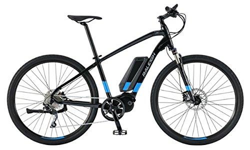 Raleigh Route iE Medium Black/Blue Electric Bike
