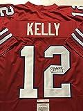 Autographed/Signed Jim Kelly Buffalo Bills Red Football Jersey JSA COA