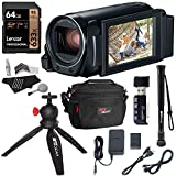 Canon Vixia Hf R800 A Camcorder Kit, Lexar 64GB U3 Class 10 SD Card, Lowepro Bag, Cleaning Kit, Ritz Gear Card Reader and Accessory Bundle