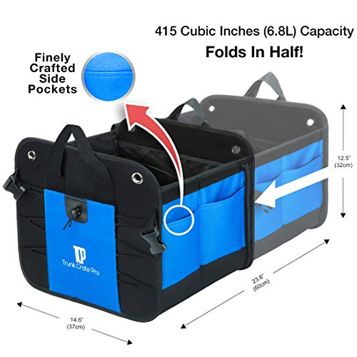 Trunkcratepro Collapsible Portable Multi Compartments