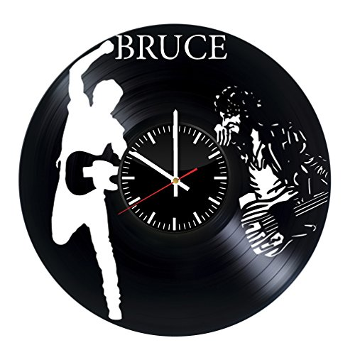Fun Door Bruce Springsteen HANDMADE Vinyl Record Wall Clock – Perfect gifts for birthday wedding anniversary valentine's mother's father's day - Gift ideas for men and women him and (Springsteen Costume)