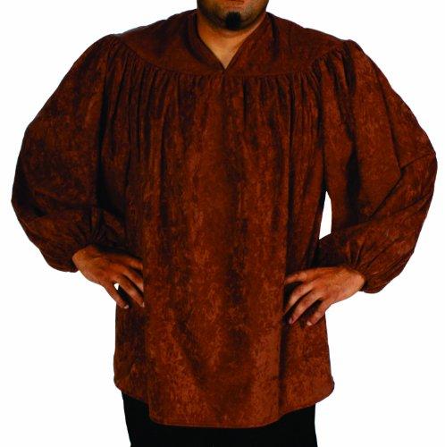 Alexanders Costumes Renaissance Peasant Shirt, Dark Brown, One Size (2)
