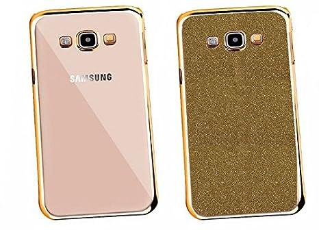 6c3df5d7a3b coverstop® Carcasa 2 in1 contorno dorado cromado Retro transparente  brillantinato Glitter Funda Para Samsung Galaxy Grand NEO I9060 PLUS:  Amazon.es: ...