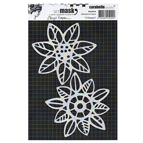 Carabelle Studio Art Mask Stencil, Two Flowers, for Creating Patterned Backgrounds and Artwork for Craft Projects, Multi-Colored, One Size