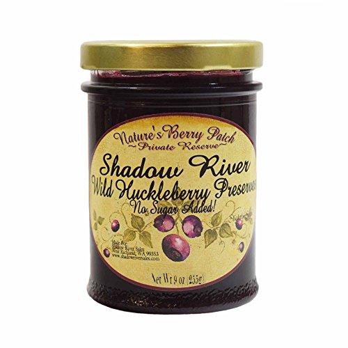 Huckleberry Jam Recipes - Shadow River Wild Huckleberry Gourmet Preserves, No Added Refined Sugar, 9 oz
