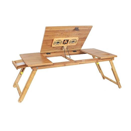 XUERUI Mesas Escritorio Bambú Plegable Ordenador Portátil Cuaderno ...
