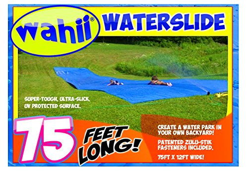 WAHII WaterSlide 75' x 12' - World's Biggest Backyard Lawn Water Slide (The Biggest Dog In The Whole Wide World)