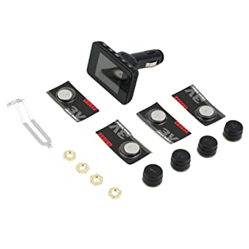 JullyeleESgant Motor Rueda de Estilo Medidor de presión de neumáticos Monitor de presión de neumáticos para Motocicleta del Coche Digital Show Detector: ...