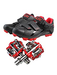 Mountain bike riding shoes double density insoles bicycle lock shoes F-65 and pedal M19
