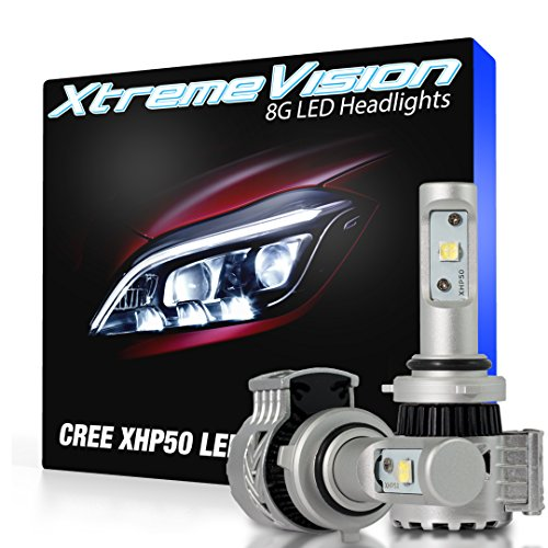 XtremeVision 8G 72W 12,000LM - 9005 LED Headlight Conversion Kit - 6500K XHP50 CREE LED - 2016 Model (Toyota Camry Body Kit 2010)
