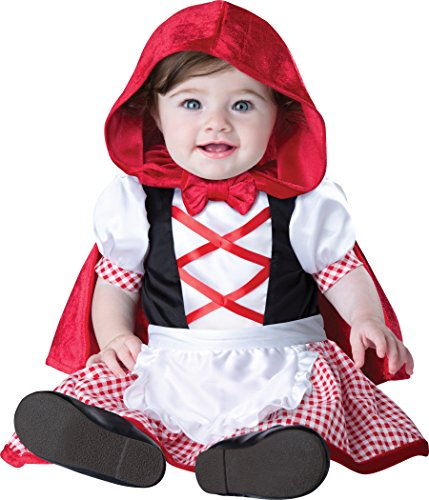 InCharacter Costumes Baby Girls' Little Red Riding Hood Costume, Red/White, X-Small (Toddler Wolf Costume)