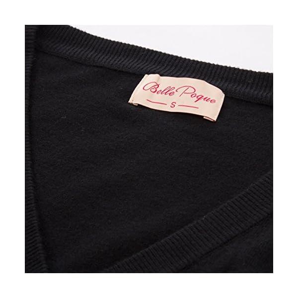Belle Poque Femme Gilet Court Vintage Années 50 Cerises Shrug Bolero 3/4 Manches Tricot pour Robe GF609