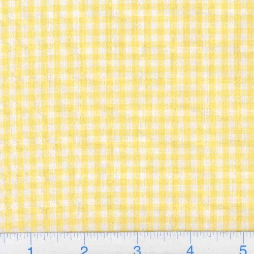 Kaufman 1/8in Carolina Gingham Yellow Fabric by The Yard]()