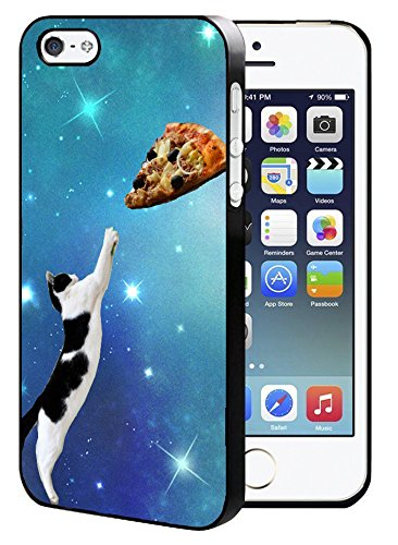 Hipster Galaxy Pizza Cat iPhone 5/5S/SE Hard Case Back Cover