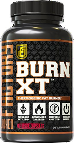 Maximum Thermogenic Fat Burner (BURN-XT Thermogenic Fat Burner - Weight Loss Supplement, Appetite Suppressant, & Energy Booster - Premium Fat Burning Acetyl L-Carnitine, Green Tea Extract, & More - 60 Natural Veggie)