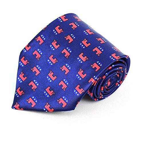 Parquet Republican Elephant Novelty Tie
