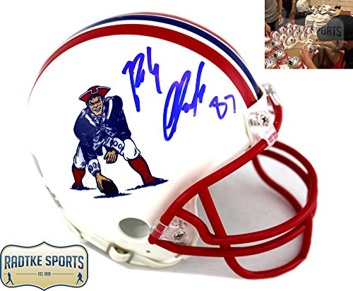 Rob Gronkowski Autographed/Signed New England Patriots Riddell NFL Throwback Mini ()