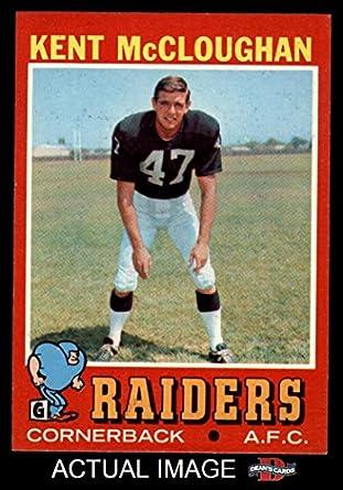 7d7573329e4 1971 Topps   137 Kent McCloughan Oakland Raiders (Football Card) Dean s  Cards 7 -