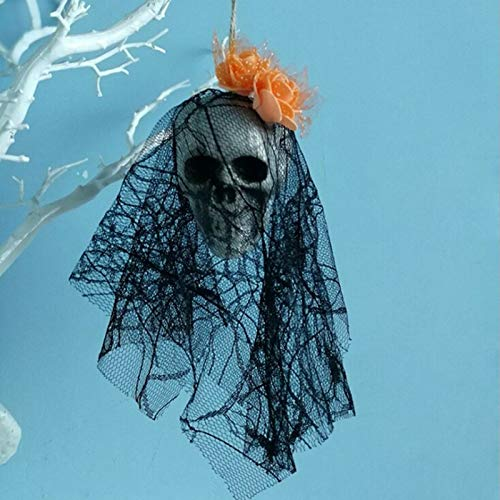 (Party Diy Decorations - Halloween Masquerade Party Hanging Ghost Props Lace Foam Skull Veils Decor Prop Fancy Events - Decorations Party Party Decorations Dress Halloween Short Veil Wedding)