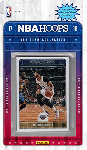 fan products of New Orleans Pelicans 2017 2018 Hoops Basketball Brand New Factory Sealed 9 Card Team Set with with Anthony Davis, Buddy Hield, Cheick Diallo Rookie card plus