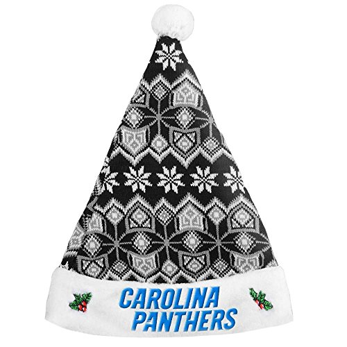 Santa Hat Panthers (Carolina Panthers Knit Santa Hat)